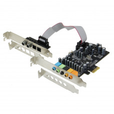 SEDNA - SE-PCIE-SC-10 High Quality PCIe 7.1 Channel Sound card ( CM8828 + CM9882A ) with SPDIF Bracket ( Standard and Low Profile brackets are included )