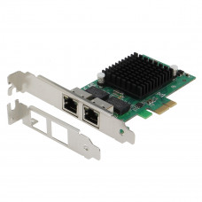 SEDNA - PCIe X1 Dual 10/100/1000 Gbps Ethernet Server Adapter ( Intel 82575EB Chipset), with low profile bracket