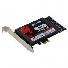 SEDNA - PCI Express (PCIe) SATA III (6G) SSD Adapter with 1 SATA III Port (With Built In Power Circuit , no need SATA Power connector, best for Mac)