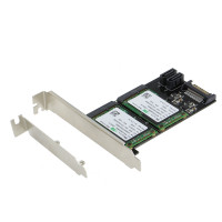 SEDNA - PCIe Dual mSATA SSD Raid Adapter with 2 SATA III  Port and HyoperDuo Hard disk acceleration function ( Low Profile Bracket Included )