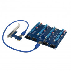 SEDNA - PCI express 1X slots Riser / 4 Port Multiplier